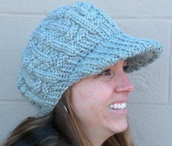 Lolos British Newsboy Cap Knit Hat Pattern PDF by YIYOdesigns