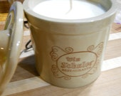 Custom Order for Heather Vanilla Bean Scented Crock Candle Soy Wax Vintage Schulers Cheese Crock