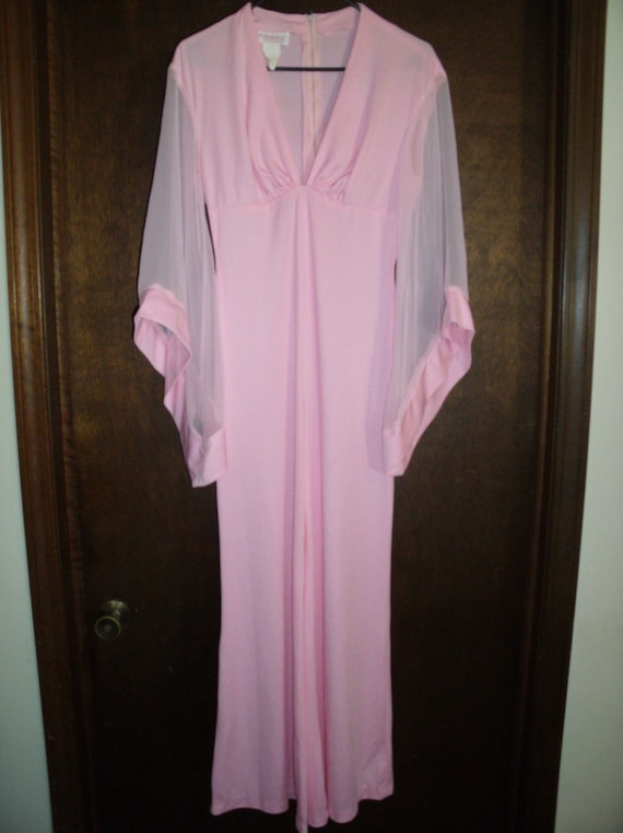 Vintage Fredericks of Hollywood Jumpsuit Pink 1970s Small Disco Cool