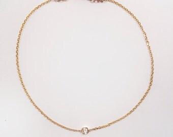 14k Gold Diamond & Sapphire Bracelet