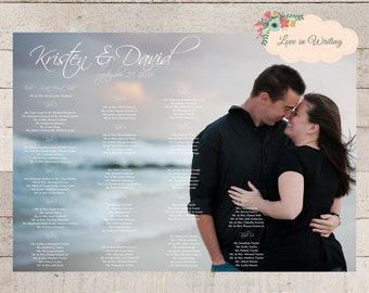 Custom Photo Seating Chart: Great for a Wedding, Baptism, Anniversary, Rehersal Dinner and more - Printable Digital File