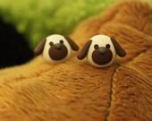Floppy Ear Puppy Dog Ear Posts, Cute Animal Theme Earrings