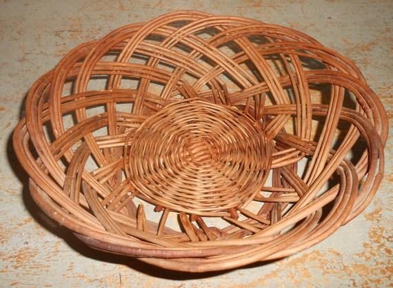 Vintage Bread Basket Cracker Basket Wicker Basket Craft