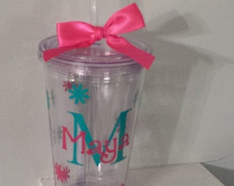 Flower Girl Cup Personalized Tumbler Wedding -   Any Color custom