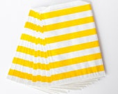 Yellow Rugby Stripe Favor Bags from The TomKat Studio