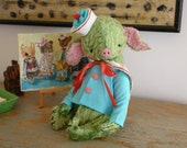 NEW PDF Epattern for 11 inch Artist Mohair Teddy Piglet Sailor Lars - the patterns for the shirt and hat are included