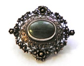 Antique PERUZZI Sterling Brooch Pin c1900 Florence, Italy & Boston, MA