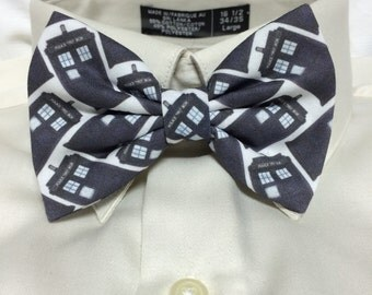 Blue phonebox Print Bowtie / Bow Tie