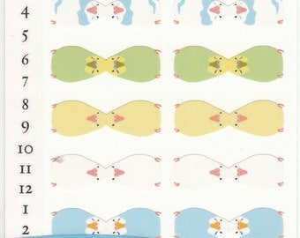 Parakeet / Budgie Index stickers 2 sheets