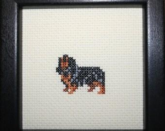 English Toy Spaniel King Charles Cross Stitched Full Body Dog.