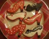 Bunco, Diva, Girls Night Out Fashion High Heel Shoes Decorated Vanilla Sugar Cookies - 1 dozen