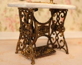 On request. Sewing machine table, dollhouse miniature, scale 1:12