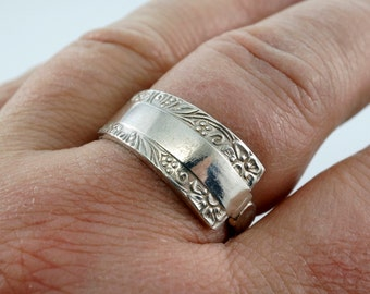 Birks Ring.  Sterling SPOON ring. Silver Spoon Ring.Sterling Flatware Ring. Size 6 - 11 Spoon Jewelry. Mens Spoon Ring .Promise Ring No.009