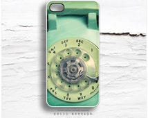 iPhone SE Case iPhone 6S Plus Case Old Rotary, iPhone 5s Case Dial Phone, iPhone 6 Case, Mint iPhone Case Retro Phone iPhone 6s Case R5