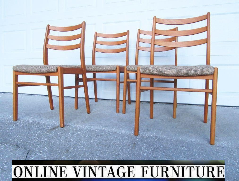 1980s danish 4 teak chairs vintage mid century midcentury for 1980s chair