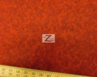 "Foggy Red 100% Cotton Fabric - 108"" Width Sold By The Yard (FH-855)"