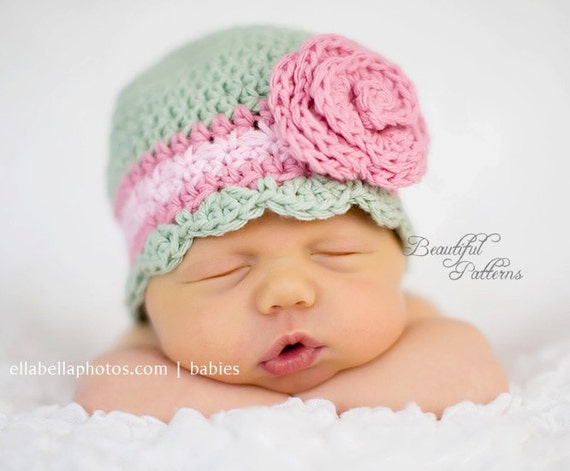 Crochet Hat Pattern Baby Crochet Hat Flapper by ...