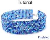Beading Tutorial Pattern Bracelet - Square Stitch - Simple Bead Patterns - Pixelated #5368