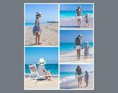 16 x 20 Digital Photo Collage Storyboard / Blog Board Template - 1