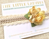 M2M Well Dressed Wolf Buttercup Headband, Yellow, Olive Green, Tan