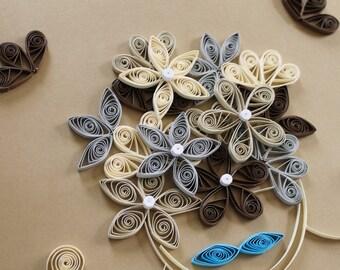 Paper Quilling Art - Flower Explosion - OOAK - Quilling247
