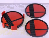 3d printed Super Smash Bros. set of four drink coasters with holder