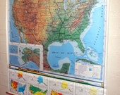 NYSTROM pull down classroom map of  United States 1SR1-10 measures 67.5x70.5