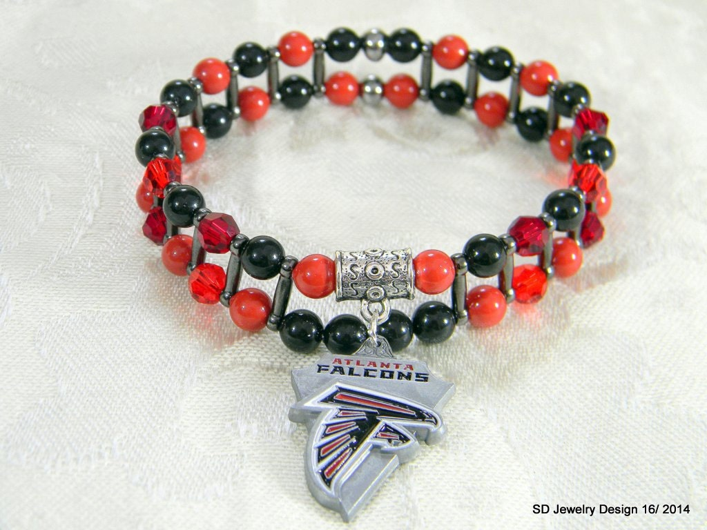 nfl atlanta falcons charm stretch bracelet by
