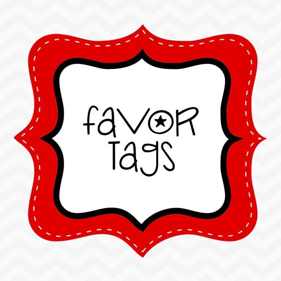Made to Match Favor Tags