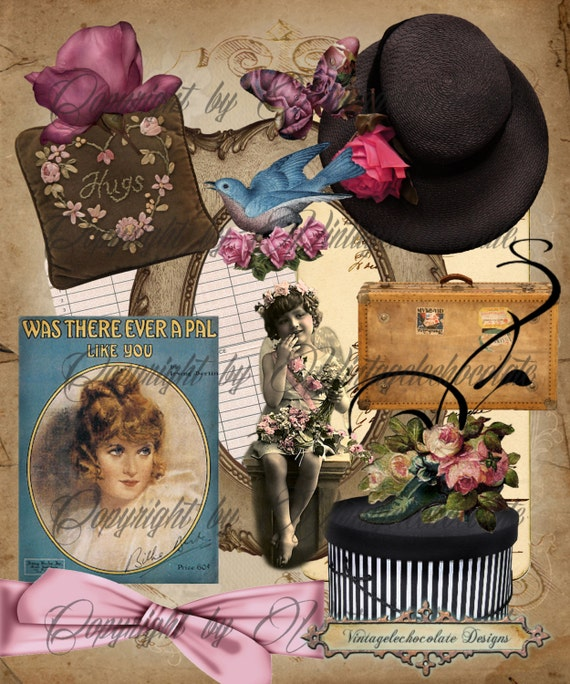 vintage decor clip art for digital scrapbooking - photo #23