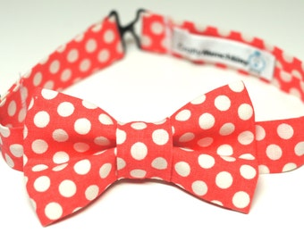 Bow Tie - Red with Polka Dots Bowtie