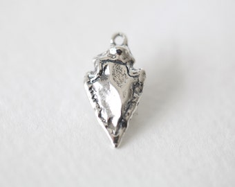 Sterling Silver Arrow Charm - vermeil gold arrow pendant, 925 silver charm