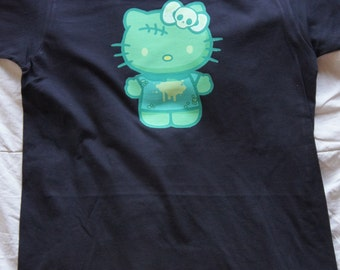 "Hello Kitty ""Halloween"" tshirt color black size small"