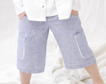 Boys shorts Toddler boy linen pants Natural linen shorts Boys
