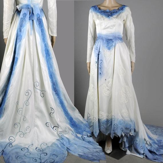 Items Similar To Tim Burton Corpse Bride Wedding Dress Gown Costume Halloween Sz S XS Or JR 11
