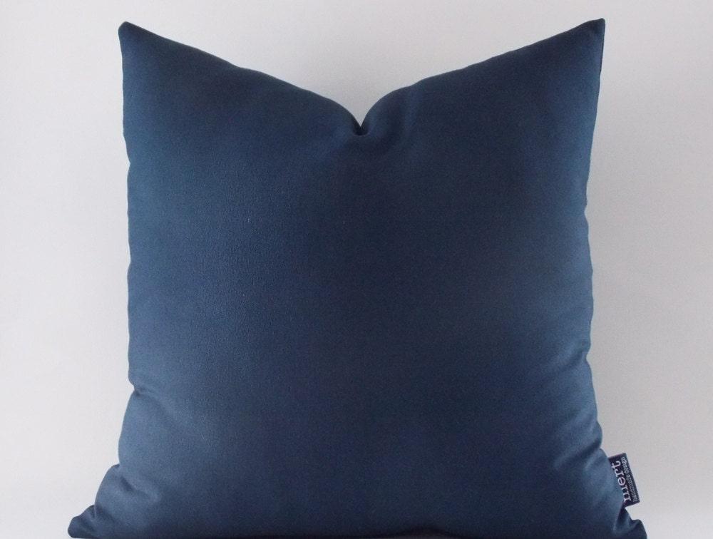 Navy Throw Pillow Canvas Cotton Pillow Cover Decorative