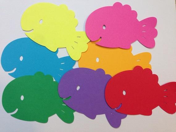 Items Similar To 20 Ocean Sea Creature Rainbow Fish Cricut