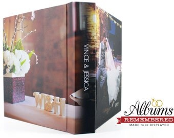 Personalized Wedding Photo Album/ 11X14 Photo cover flush mount wedding abum 30pages- Albums Remembered