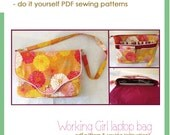 Working Girl laptop bag - PDF sewing pattern