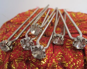 Vintage hair diamonds - set of six