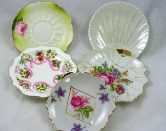 Colorful Mismatched Bone China Small Plates