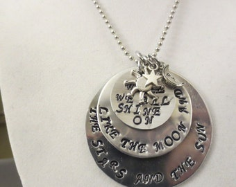 """Beatles """"We all shine on"""" necklace"""