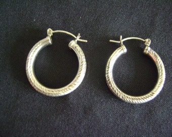 Vintage Sterling Silver Loop Earrings