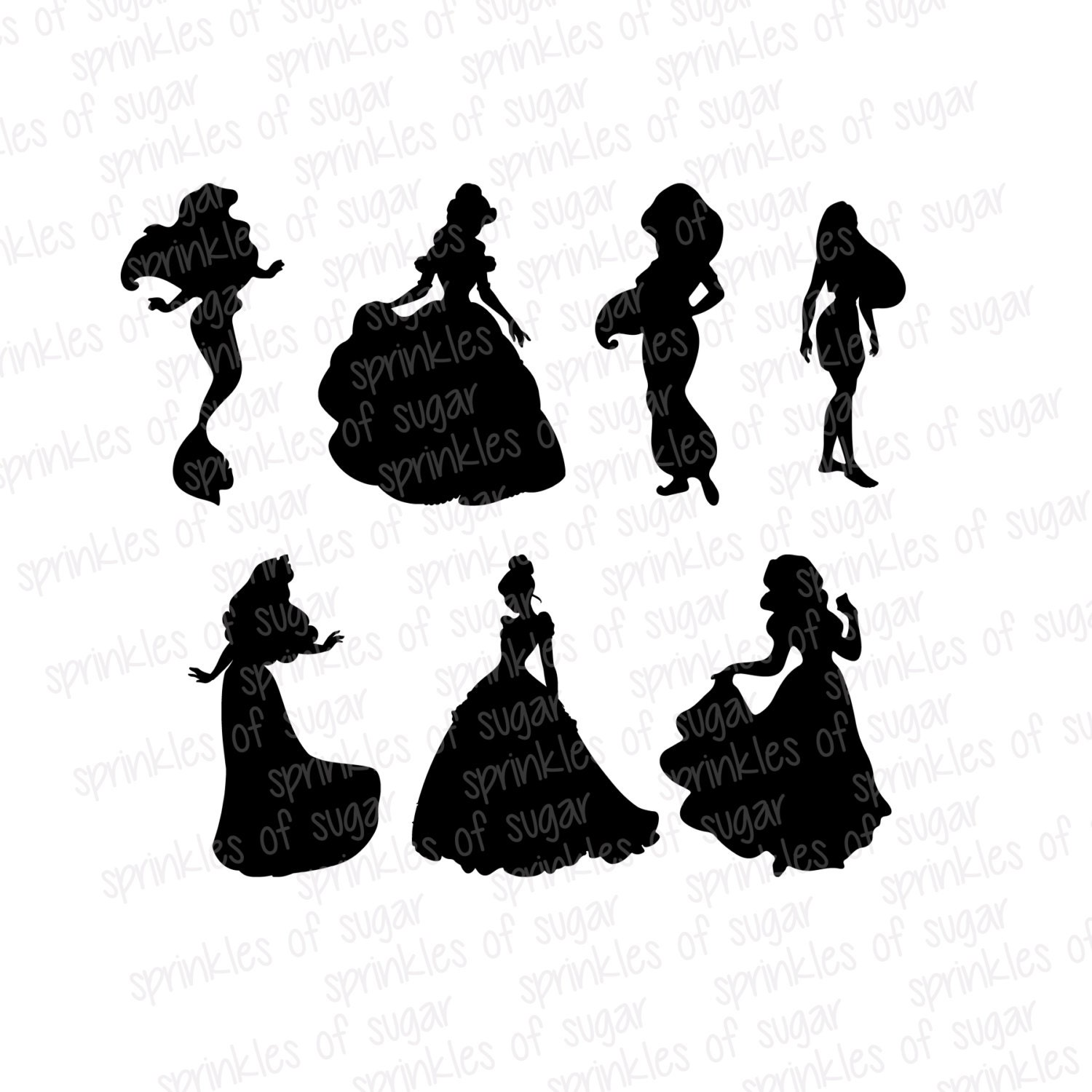 Printable Disney Silhouettes Disney Princess Silhouettes