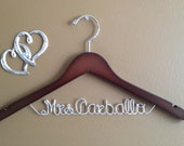 Personalized Custom Bridal Hanger, Bridal Hanger one line, Brides Hanger, Bride, Name Hanger, Wedding Hanger, Personalized Bridal Gift,