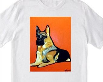 "POP Art ""German Shepherd"" Dog - 100% Cotton T-Shirt for Men, Women & Children by A.V.Apostle"