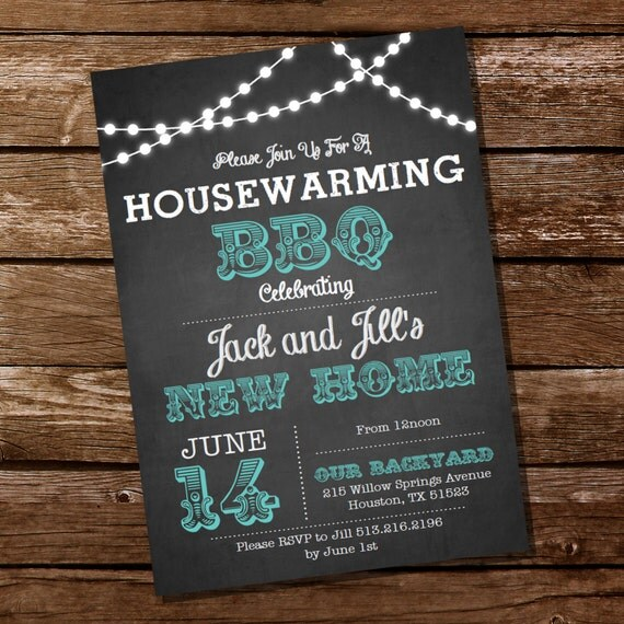 chalkboard housewarming bbq invitation housewarming party. Black Bedroom Furniture Sets. Home Design Ideas
