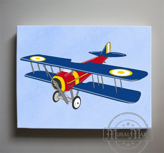 Vintage Airplane Nursery Art For Children Nursery Decor
