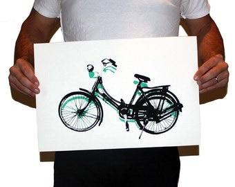 Bicycle Screen Print
