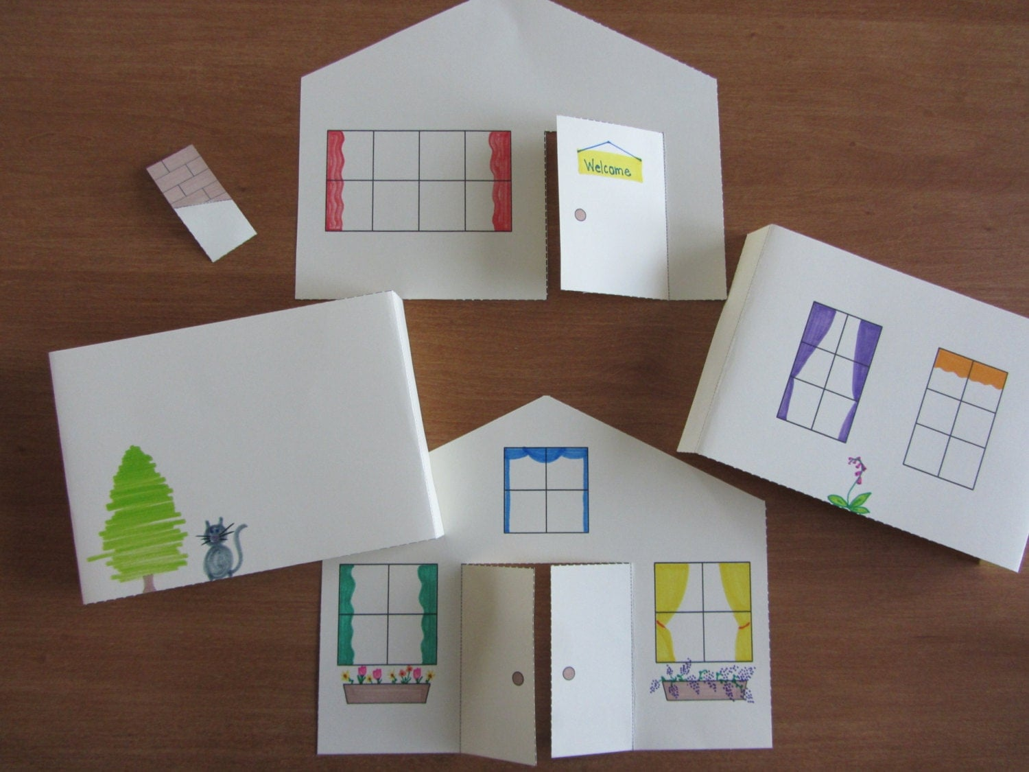 3d paper house craft for kids instant download template for My home pictures for kids